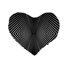 Abstract Of Shutter Lines Standard 16  Premium Heart Shape Cushions by Simbadda