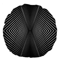 Abstract Of Shutter Lines Large 18  Premium Flano Round Cushions by Simbadda