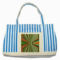 Colorful Spheric Background Striped Blue Tote Bag by Simbadda
