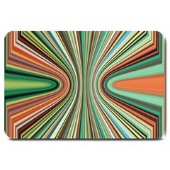 Colorful Spheric Background Large Doormat  by Simbadda