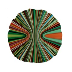 Colorful Spheric Background Standard 15  Premium Flano Round Cushions by Simbadda