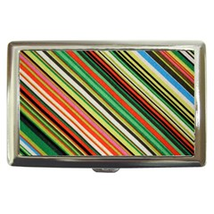Colorful Stripe Background Cigarette Money Cases by Simbadda