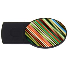 Colorful Stripe Background Usb Flash Drive Oval (4 Gb) by Simbadda