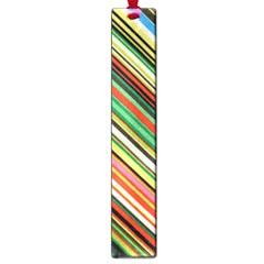 Colorful Stripe Background Large Book Marks by Simbadda