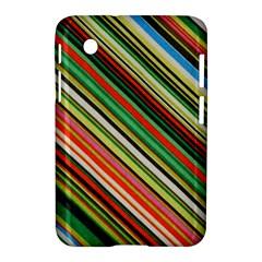 Colorful Stripe Background Samsung Galaxy Tab 2 (7 ) P3100 Hardshell Case  by Simbadda