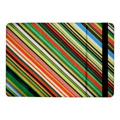 Colorful Stripe Background Samsung Galaxy Tab Pro 10 1  Flip Case by Simbadda