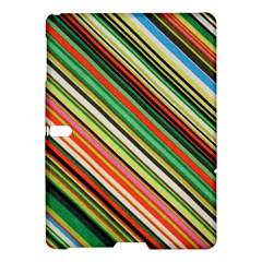 Colorful Stripe Background Samsung Galaxy Tab S (10 5 ) Hardshell Case  by Simbadda