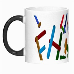 Colorful Letters From Wood Ice Cream Stick Isolated On White Background Morph Mugs by Simbadda