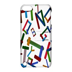 Colorful Letters From Wood Ice Cream Stick Isolated On White Background Apple Ipod Touch 5 Hardshell Case With Stand by Simbadda