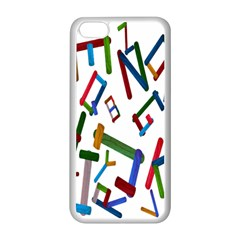 Colorful Letters From Wood Ice Cream Stick Isolated On White Background Apple Iphone 5c Seamless Case (white) by Simbadda