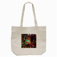 Alien World Digital Computer Graphic Tote Bag (cream) by Simbadda