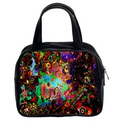 Alien World Digital Computer Graphic Classic Handbags (2 Sides) by Simbadda