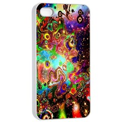 Alien World Digital Computer Graphic Apple Iphone 4/4s Seamless Case (white) by Simbadda