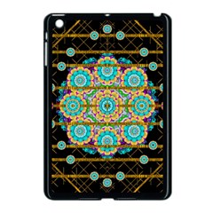 Gold Silver And Bloom Mandala Apple Ipad Mini Case (black) by pepitasart