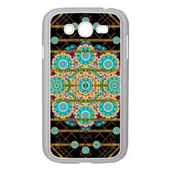 Gold Silver And Bloom Mandala Samsung Galaxy Grand Duos I9082 Case (white) by pepitasart