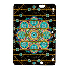Gold Silver And Bloom Mandala Kindle Fire Hdx 8 9  Hardshell Case by pepitasart