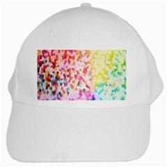 Colorful Colors Digital Pattern White Cap