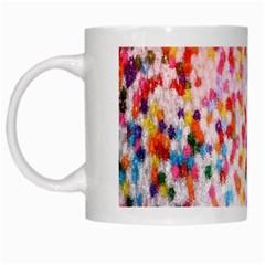 Colorful Colors Digital Pattern White Mugs by Simbadda