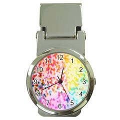 Colorful Colors Digital Pattern Money Clip Watches by Simbadda