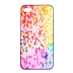 Colorful Colors Digital Pattern Apple Iphone 4/4s Seamless Case (black) by Simbadda
