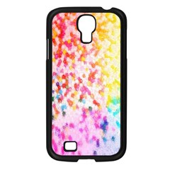 Colorful Colors Digital Pattern Samsung Galaxy S4 I9500/ I9505 Case (black) by Simbadda
