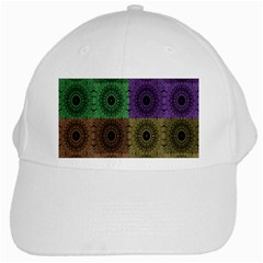 Creative Digital Pattern Computer Graphic White Cap
