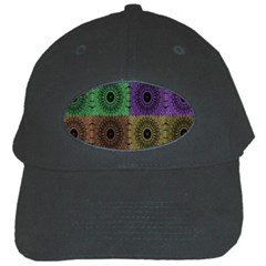 Creative Digital Pattern Computer Graphic Black Cap by Simbadda