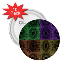 Creative Digital Pattern Computer Graphic 2.25  Buttons (10 pack)  by Simbadda