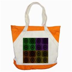 Creative Digital Pattern Computer Graphic Accent Tote Bag by Simbadda