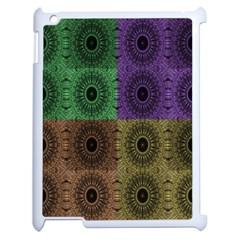 Creative Digital Pattern Computer Graphic Apple iPad 2 Case (White) by Simbadda