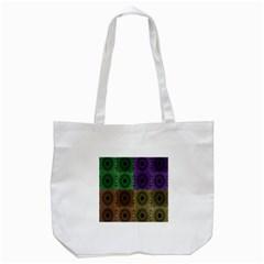 Creative Digital Pattern Computer Graphic Tote Bag (white) by Simbadda
