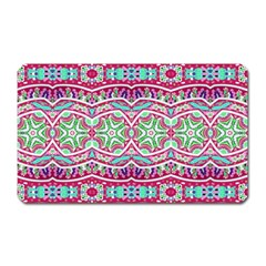 Colorful Seamless Background With Floral Elements Magnet (rectangular)