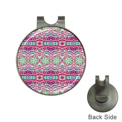 Colorful Seamless Background With Floral Elements Hat Clips With Golf Markers by Simbadda