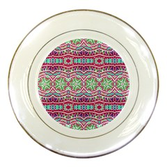Colorful Seamless Background With Floral Elements Porcelain Plates by Simbadda