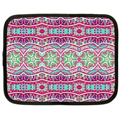 Colorful Seamless Background With Floral Elements Netbook Case (xl)  by Simbadda