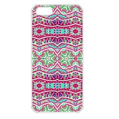 Colorful Seamless Background With Floral Elements Apple iPhone 5 Seamless Case (White)