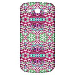 Colorful Seamless Background With Floral Elements Samsung Galaxy S3 S Iii Classic Hardshell Back Case by Simbadda