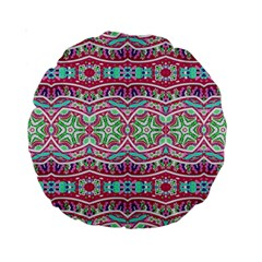 Colorful Seamless Background With Floral Elements Standard 15  Premium Round Cushions by Simbadda