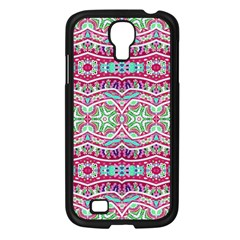 Colorful Seamless Background With Floral Elements Samsung Galaxy S4 I9500/ I9505 Case (black) by Simbadda