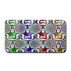 Digital Patterned Ornament Computer Graphic Medium Bar Mats by Simbadda
