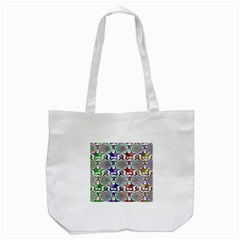 Digital Patterned Ornament Computer Graphic Tote Bag (white) by Simbadda
