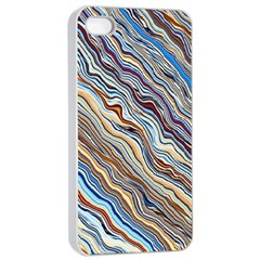 Fractal Waves Background Wallpaper Pattern Apple Iphone 4/4s Seamless Case (white) by Simbadda