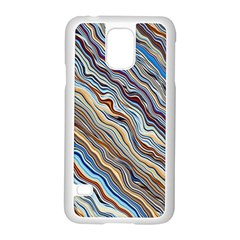 Fractal Waves Background Wallpaper Pattern Samsung Galaxy S5 Case (white) by Simbadda