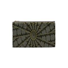 Abstract Image Showing Moiré Pattern Cosmetic Bag (small)  by Simbadda