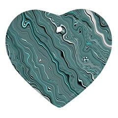Fractal Waves Background Wallpaper Ornament (heart) by Simbadda