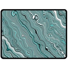 Fractal Waves Background Wallpaper Double Sided Fleece Blanket (large)  by Simbadda
