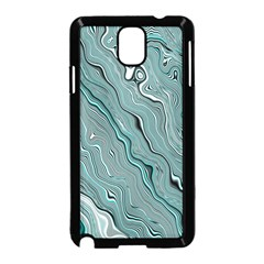 Fractal Waves Background Wallpaper Samsung Galaxy Note 3 Neo Hardshell Case (black) by Simbadda