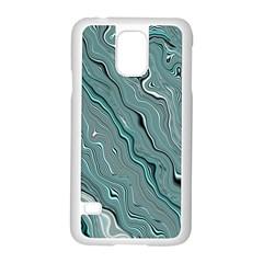 Fractal Waves Background Wallpaper Samsung Galaxy S5 Case (white) by Simbadda