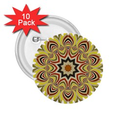 Abstract Geometric Seamless Ol Ckaleidoscope Pattern 2 25  Buttons (10 Pack)  by Simbadda