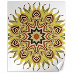 Abstract Geometric Seamless Ol Ckaleidoscope Pattern Canvas 11  X 14   by Simbadda